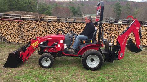 mahindra tractor loader mahindra emax 22s hst tractor w loader backhoe walkthru