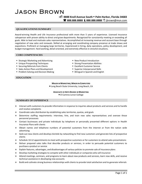 sle resume for sales and marketing professional sales and marketing representative sle resume mitocadorcoreano
