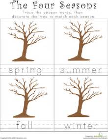 Essay 4 Seasons Year by Writing The Four Seasons Worksheet Education