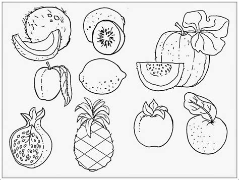 doodle buah mewarnai gambar buah buahan mewarnai indonesia