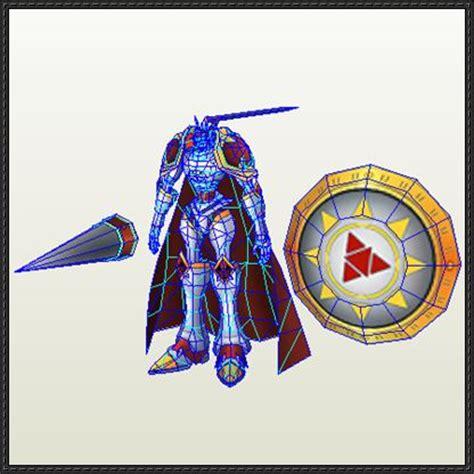 Digimon Papercraft - digimon gallantmon free papercraft
