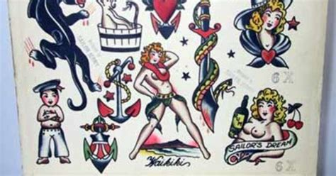 tattoo flash for sale vintage flash sailor jerry collins flash for sale