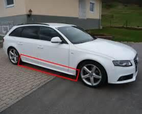 Audi A4 B8 Spoiler Side Skirts Audi A4 B8 8k Berlina Avant 2008