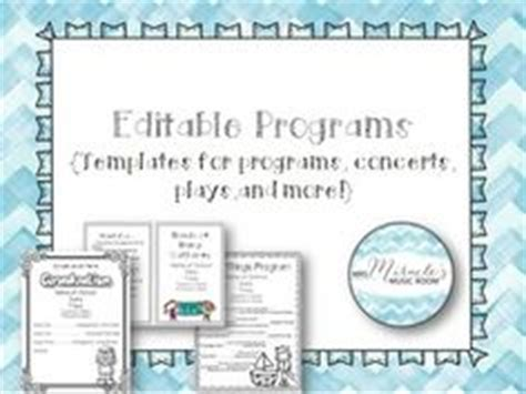 School Concert Event Program Templates Music Education Therapy Pinterest Programming And Winter Program Template