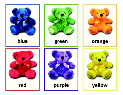 Colours Activity Learning Act Funlrn Col color bears sorting activity is a way for preschoolers to learn basic color recognition and