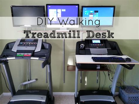 Diy Walking Treadmill Desk And Shelves Installed Http Diy Treadmill Desk