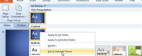 How To Change Default Template Size In Powerpoint 2010 Powerpoint 2010 Template Size