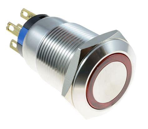 vandal resistant light switch momentary latching 19mm vandal resistant metal 12v led