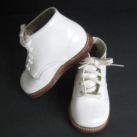vintage 50s nos shoes baby toddler stride rite white leather