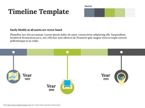 free apple keynote template timeline on behance