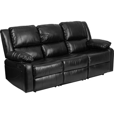 sofa built for two black leather sofa with two built in recliners