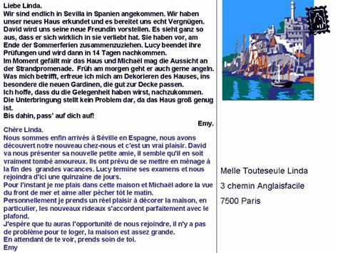 Modèles De Lettre Type En Allemand Dialogue Une Carte Postale De S 233 Ville Allemand