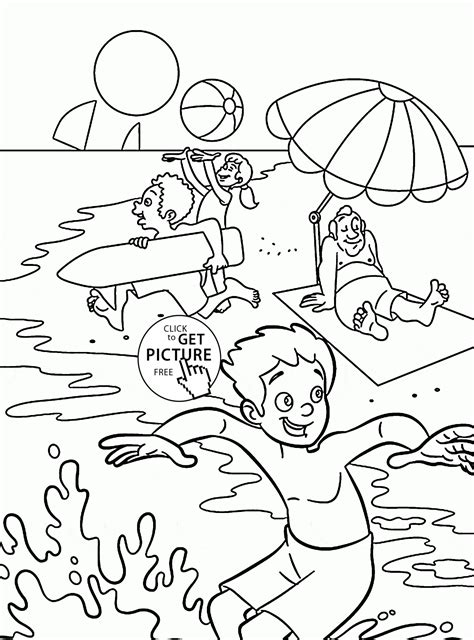 summer fun for kids coloring page for kids seasons