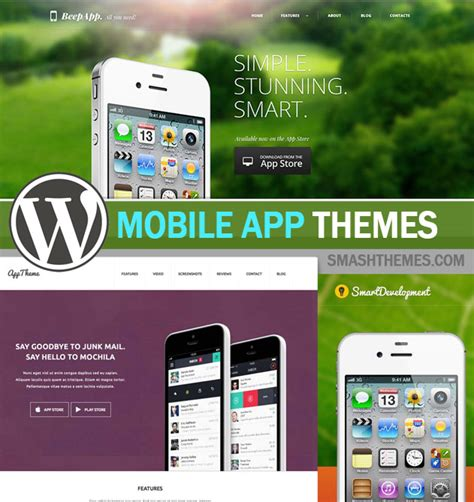 best themes in mobile 20 best wordpress mobile app themes 2016 smashthemes