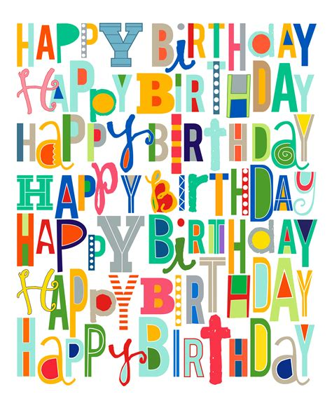 imagenes de happy birthday free free happy birthday printable i heart nap time