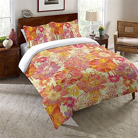 orange comforter full laural home 174 full bloom comforter in orange www