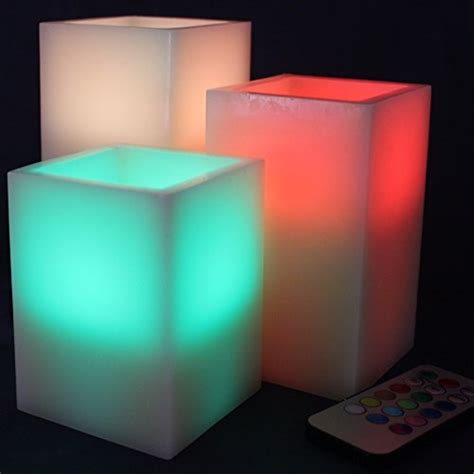 Battery Operated Candles That Change Colors by Led Lytes Flameless Candles Square Multi Color Changing