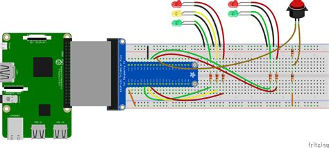 traffic light electronic project using 4017 555