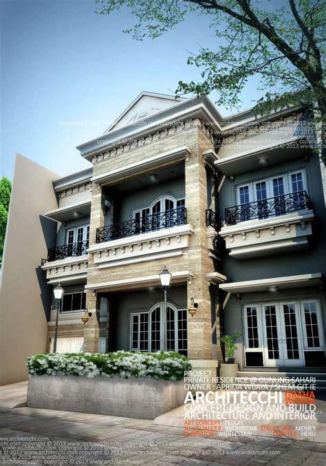 desain dapur classic desain rumah neo classic concept view 2 home design