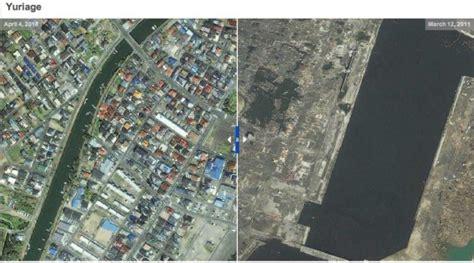 imagenes satelitales japon tierra arrasada jap 243 n antes y despu 233 s del terremoto