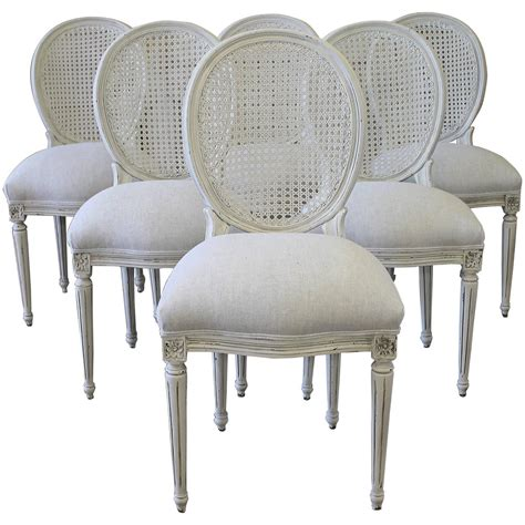 Cane Dining Room Chairs | louis xvi style cane back dining chairs at 1stdibs