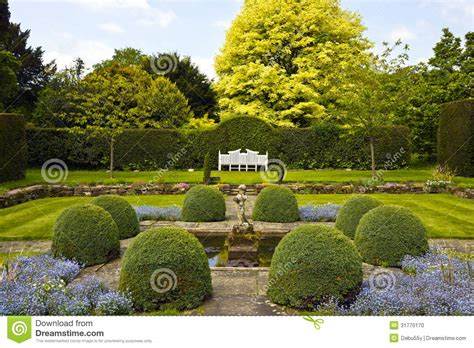 Traditional Style House Plans formal english garden stock photo image 31770170