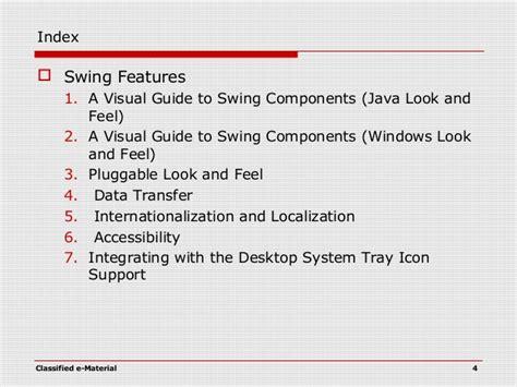 java swing visual guide java swing programming