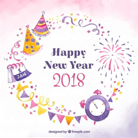 new year 2018 vector happy new year 2018 in pink vector free