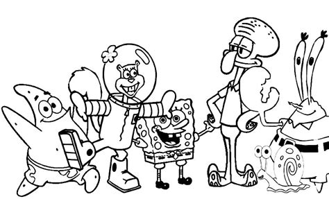 Spongebob Characters Coloring Pages Coloring Home Coloring Pages Of Characters