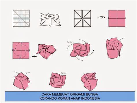 cara membuat kolase bunga dari kertas origami cara membuat origami bunga korando koran anak indonesia