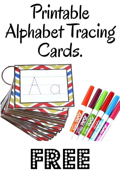 Printable Letter Cards For Tracing | alphabet tracing cards free printable see jamie teach