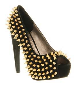 jeffrey cbell during spike high heel black suede gold