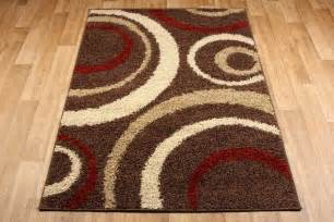 aura brown red cream rug 3922d