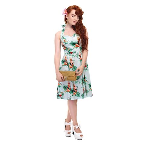 pin up swing dress collectif mainline lori tropical pin up girl swing dress