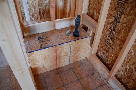 framing shower bench diy walk in shower step 1 rough framing diydiva