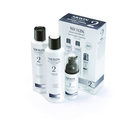 nioxin hair system kit 2 for noticeably thinning natural hair system kit 2 for fine noticeably thinning hair