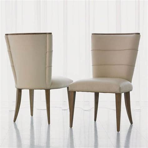 Leather Dining Chairs Adelaide Studio A Adelaide Beige Leather Side Chair Global Views Side Chairs Dining Chairs