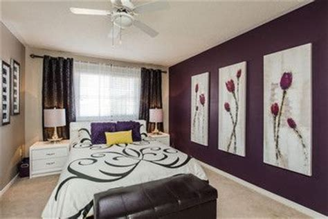 eggplant and grey bedroom dark eggplant accent wall accent walls pinterest