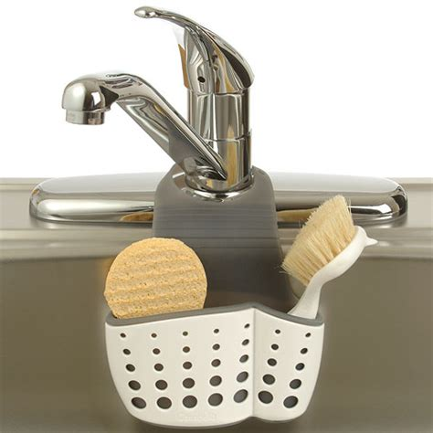 sponge holder kitchen sink adjustable dish brush and sponge holder in sink organizers