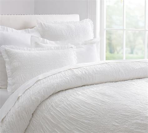 couch duvet covers ruched voile duvet cover sham pottery barn