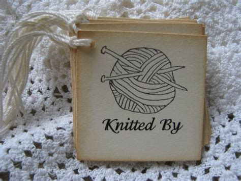 Handmade Tags For Knitting - knitted by tags knitting yarn tags handmade tags
