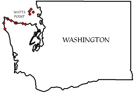 Blank Outline Map Of Washington State by Wa Outline Images Search