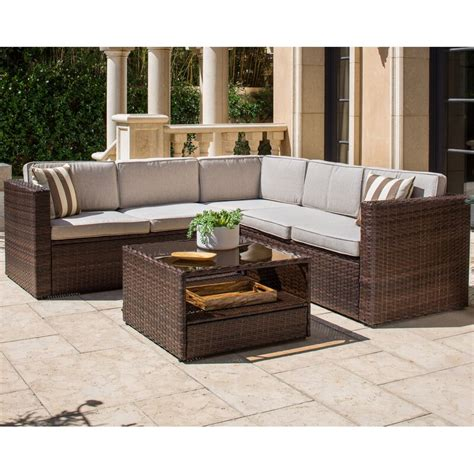 solaura outdoor  piece rattan sectional seating group