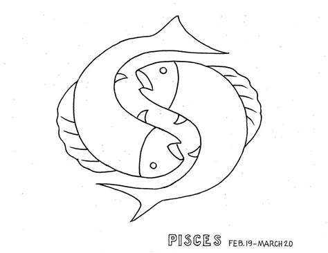 horoscopes coloring pages quot zodiac pisces quot