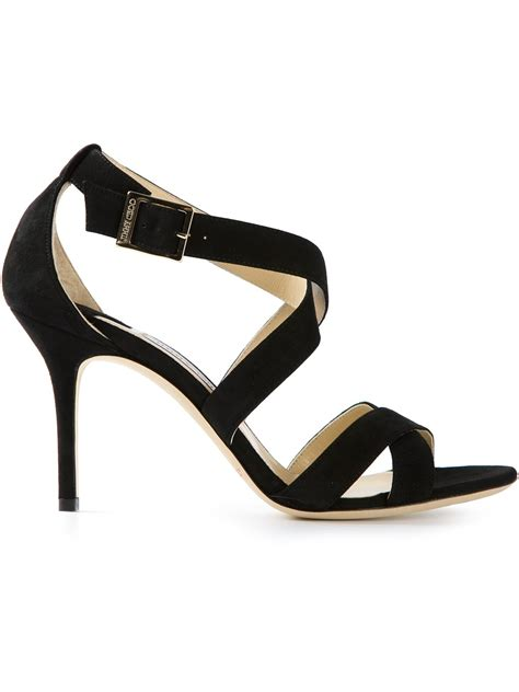 high heels jimmy choo jimmy choo high heel sandals in black lyst