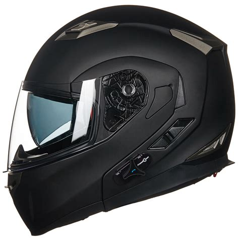 full face motocross helmets bluetooth integrated modular flip up dual visor full face