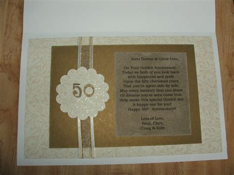 Handmade Gifts For Anniversary - 50th wedding anniversary card addicted2scrappin