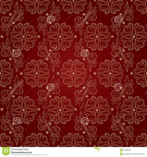 red pattern background vector floral vintage seamless pattern on red background royalty