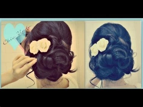 easy prom wedding hairstyles with curls formal updos for medium hair tutorial how to