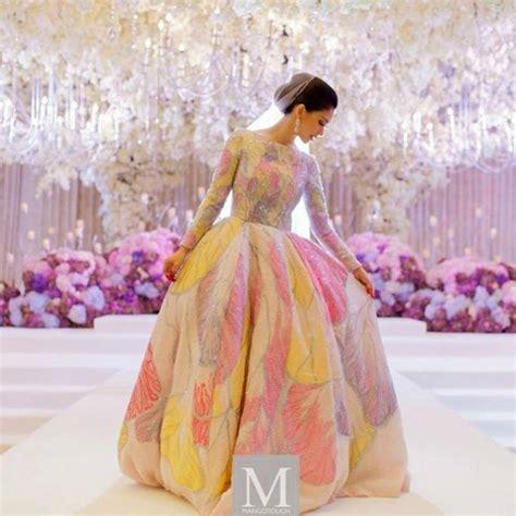 design dress kembang malaysian celebrity anzalna nasir s wedding at grand hyatt